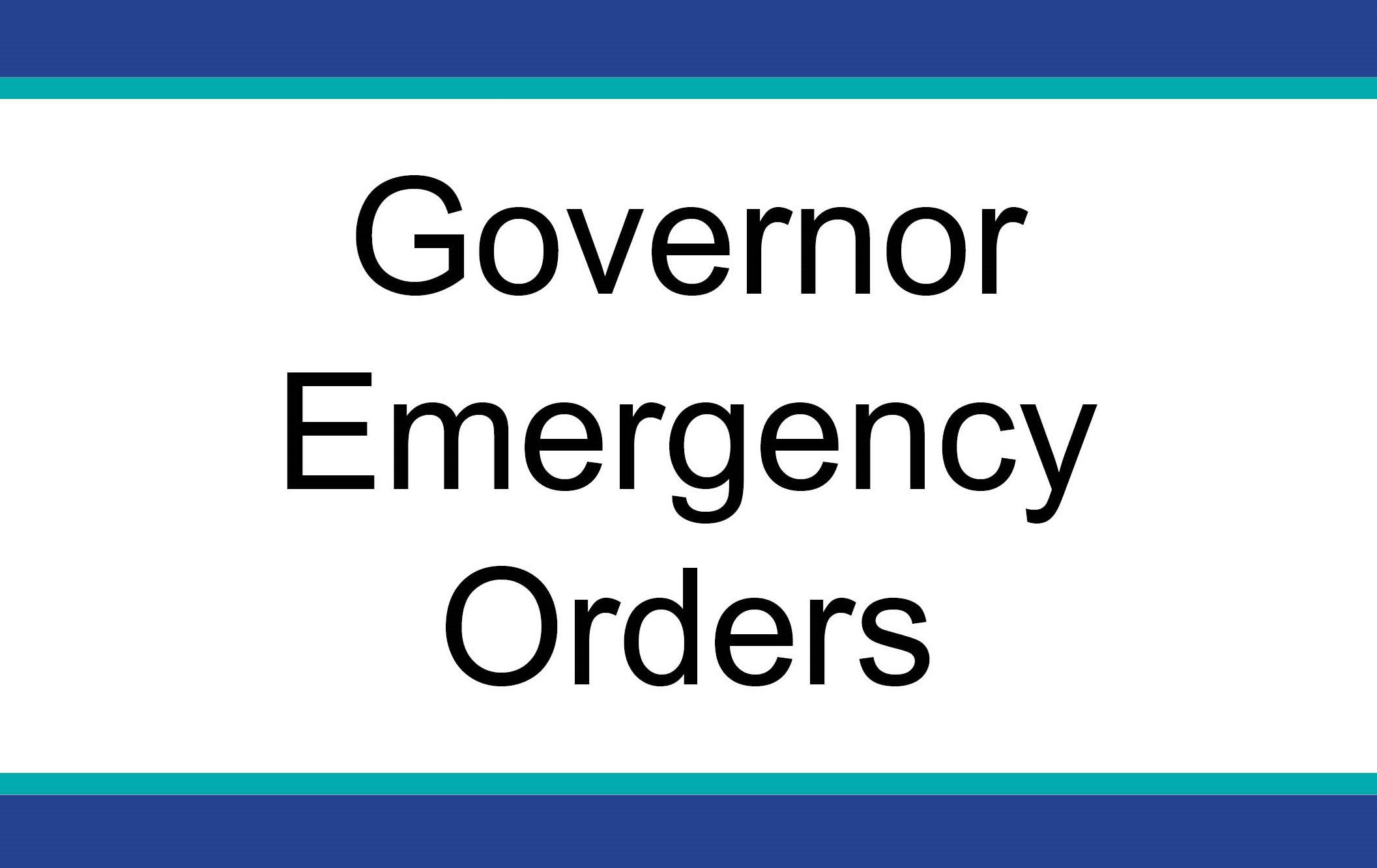 governor orders